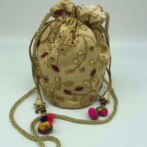 Handbags - New Handmade Ethnic Indian Bollywood Potli Bag